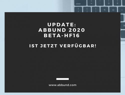 Update: ABBUND 2020 BETA-HF16 ist jetzt verfügbar!